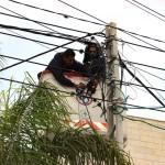 جانب من اعمال قسم الكهرباء – صيانة عامة للشكبة