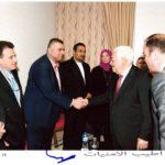 فخامة رئيس دولة فلسطين محمود عباس موظف العلاقات العامة في بلدية قلقيلية وائل شريم