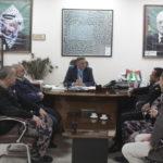 رئيس لجنة بلدية قلقيلية طارق اعمير يلتقي مدير الدفاع المدني المقدم حقوقي حسان جبر