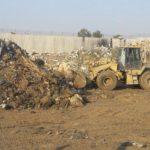 ترحيل ما بقي من النفايات في موقع غرب دينمو متر البلدية