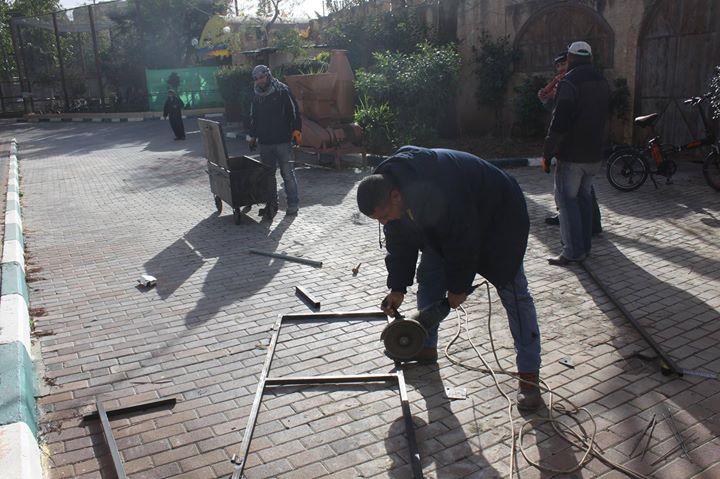 حملة تجهيزات واسعة داخل الحديقة تشمل اعمال الصيانة والنظافة والتطوير.