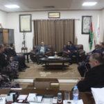 اعمير يلتقي في مكتبه وفدا من الدفاع المدني الفلسطيني