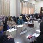 جانب من لقاء رئيس لجنة البلدية طارق اعمير بعضوات النادي النسوي في المدينة
