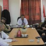 رئيس لجنة بلدية قلقيلية طارق اعمير يلتقي مدير مستشفى الدكتور درويش نزال الحكومي