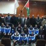 وفد من نادي شباب الحسين الاردني يزور بلدية قلقيلية