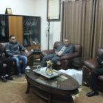 وفد من جمعية الهلال الاحمر الفلسطيني فرع قلقيلية يزور البلدية
