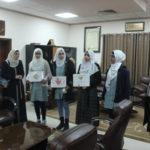 رئيس لجنة بلدية قلقيلية طارق اعمير يلتقي وفدا من طالبات بنات مدرسة العمرية