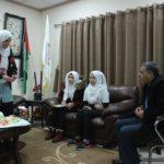 اعمير يلتقي عضوات الشركة الطلابية من مدرسة بنات مدرسة العمرية في قلقيلية