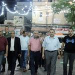 د. هاشم المصري رئيس بلدية قلقيلة يشارك في جولة تفقدية للأسواق