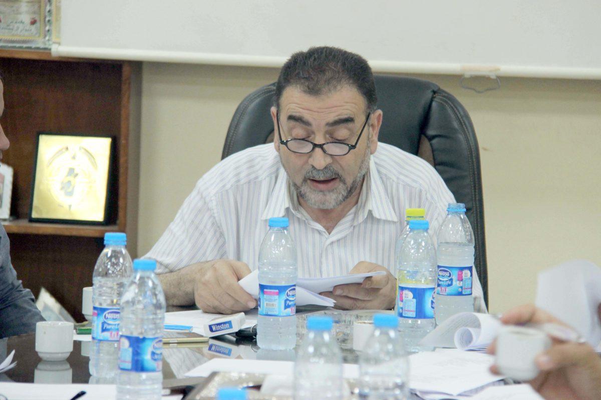 د. هاشم المصري رئيس بلدية قلقيلية يستعرض موقف البلدية من التوسعة المقترحة للمخطط الهيكلي للمدينة