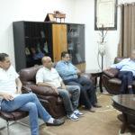 رئيس بلدية قلقيلية د. هاشم المصري يلتقي في مكتبه وفدا من نقابة موظفي وعمال بلدية قلقيلية
