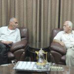 نائب رئيس بلدية قلقيلية د. باسم الهاشم يلتقي في مكتبه رئيس بلدية كفر ثلث حسني عيسى