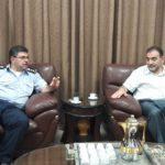 رئيس بلدية قلقيلية د. هاشم المصري يلتقي في مكتبه وفدا من شرطة قلقيلية