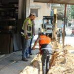 قسم المياه – تغير شبكة مياه لتقوية خدمة المياه في المنطقة – الشارع الغربي