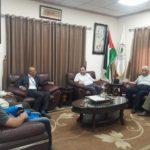 رئيس البلدية د. هاشم المصري يلتقي وفدا من شركة الاتصالات
