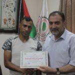 رئيس بلدية قلقيلية د. هاشم المصري يكرم شركة علي يامين واولاده لتجارة المعدات