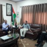رئيس البلدية د. هاشم المصري يلتقي رئيس اتحاد نقابات عمال فلسطين