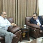 رئيس بلدية قلقيلية د. هاشم المصري يستقبل في مكتبه مدير مديرية الزراعة