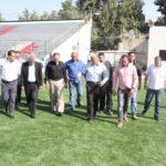 تفقد الملعب البلدي بعد اجراء التعديلات عليه تمهيدا لافتتاحه رسميا قريبا