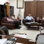 رئيس بلدية قلقيلية يلتقي رئيس المشترك للنفايات الصلبة في محافظة قلقيلية