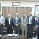 وفدا من شركة الاتصالات الفلسطينية يزور بلدية قلقيلية