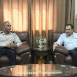رئيس بلدية قلقيلية د. هاشم المصري يلتقي مدير الضابطة الجمركية