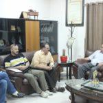 رئيس بلدية قلقيلية د. هاشم المصري يستقبل في مكتبه وفدا من الجمعية التعاونية للتسويق الزراعي