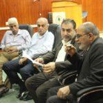 لقاء مع رؤساء الدوائر والاقسام والشعب لمناقشة المخطط الهيكلي الاداري للبلدية