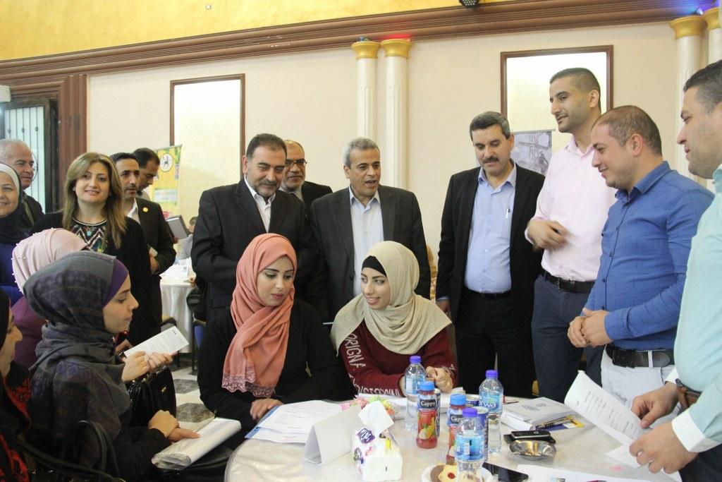 مشاركة البلدية في فعالية افتتاح يوم التوظيف الذي نفذه نادي اهلي قلقيلية