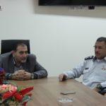 زيارة رئيس بلدية قلقيلية د.هاشم المصري لمدير الدفاع المدني في قلقيلية