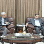 رئيس بلدية قلقيلية د. هاشم المصري يلتقي بمدير برنامج توأمة مدينة جنزفيل لولاية فلوريد الامريكية استيف كلشمان