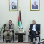جانب من لقاء رئيس بلدية قلقيلية مع محافظ محافظة قلقيلية