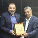 رئيس البلدية يزور مدير جهاز الامن الوقائي الجديد في قلقيلية العميد حماد كعابنة