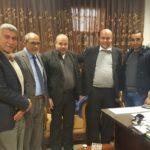 لقاء اعضاء المجلس البلدي مع مدير مدرسة مسقط