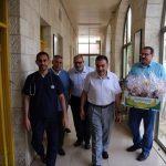 رئيس بلدية قلقيلية في جولة تفقدية للمرضى في مستشفيات قلقيلية