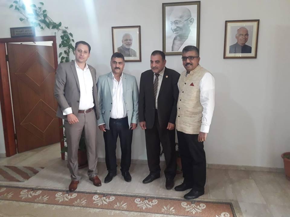 رئيس البلدية يبحث مع السفير الهندي افاق التعاون المستقبلي