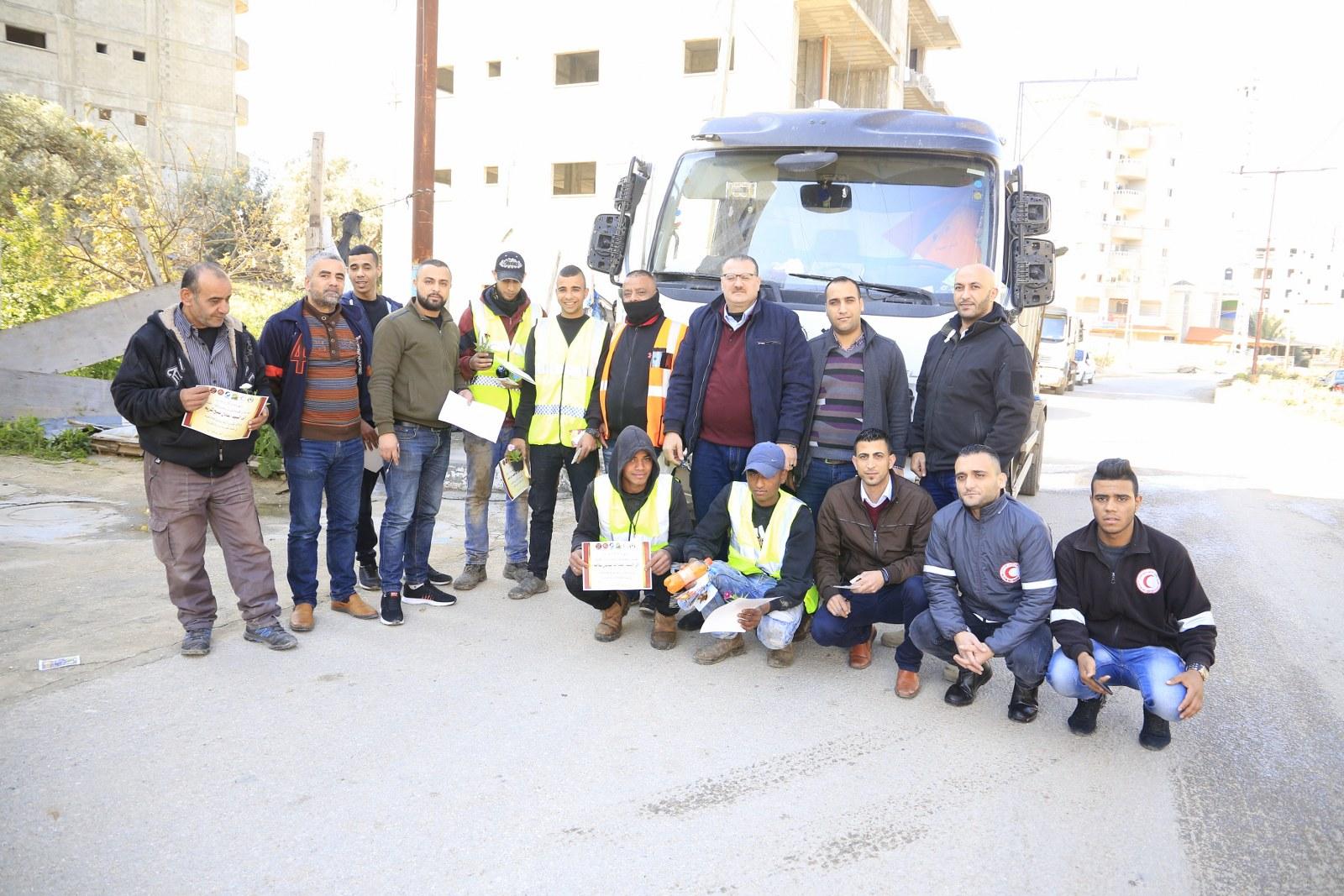 تكريم بلدية قلقيلية تقديراً للجهودها في الحفاظ على نظافة المدينة