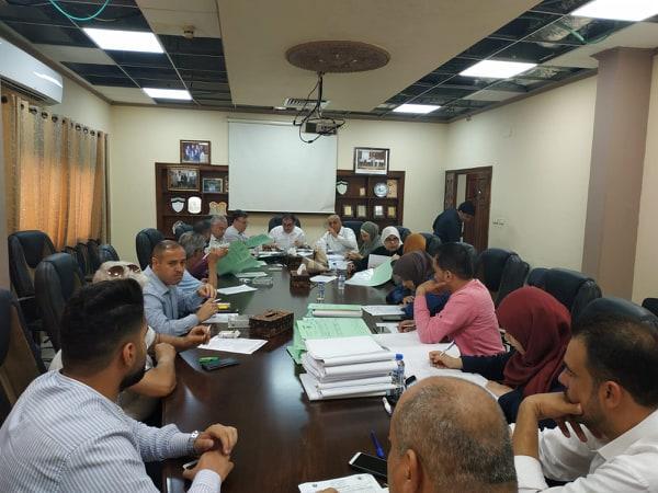 """بلدية قلقيلية تعقد جلسة التنظيم والابنية  """" 16″ لعام 2019"""
