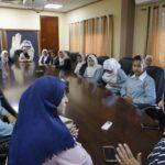 وفد من طالبات مدرسة الشهداء يزور بلدية قلقيلية