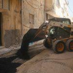 أعمال تعبيد ضمن مشروع تأهيل شبكة الصرف الصحي في مدينة قلقيلية