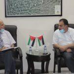لقاء رئيس البلدية بممثلي مركز الارشاد القانوني