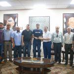 رئيس البلدية يستقبل وفدا من منطقة الشهيد غسان هزاع