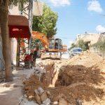 بلدية قلقيلية تواصل اعمال مشروع تأهيل شبكة الصرف الصحي في المدينة