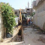 مشروع تأهيل شبكة الصرف الصحي في النقار