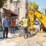 مواصلة اعمال مشروع تأهيل شبكة الصرف الصحي في مدينة قلقيلية