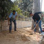 استمرار اعمال تأهيل المنطقة الجنوبية من شارع عبد الرحيم السبع (جلجولية)