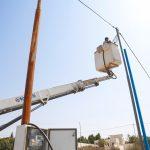 من اعمال قسم الكهرباء في بلدية قلقيلية
