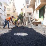 اعمال تعبيد ضمن مشروع تأهيل شبكة الصرف الصحي.