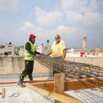 بلدية قلقيلية تباشر بأعمال بناء طابق ثاني عظم في مدرسة العودة
