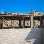 استمرار اعمال مشروع بناء طابق ثاني عظم في مدرسة العودة